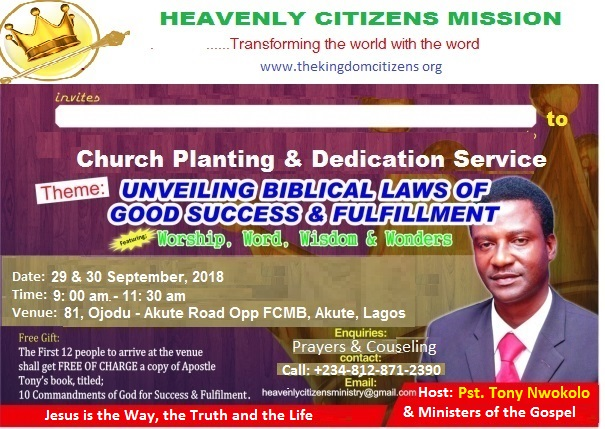 HEAVENLY CITIZENS CHAPEL INAUGURATION PROJECT