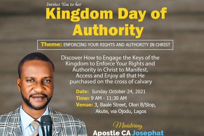 ENFORCING YOUR RIGHTS AND AUTHORITY IN CHRIST